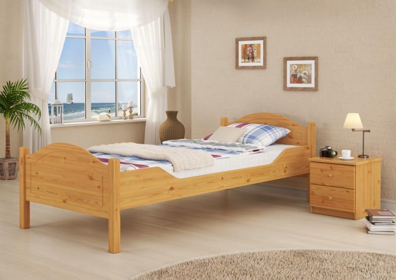 Letto singolo stile casa campagna legno massello letto for Letto stile fattoria