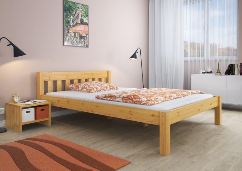 doppelbett franz sisches bett 140x200 bettgestell kiefer massiv rost ebay. Black Bedroom Furniture Sets. Home Design Ideas