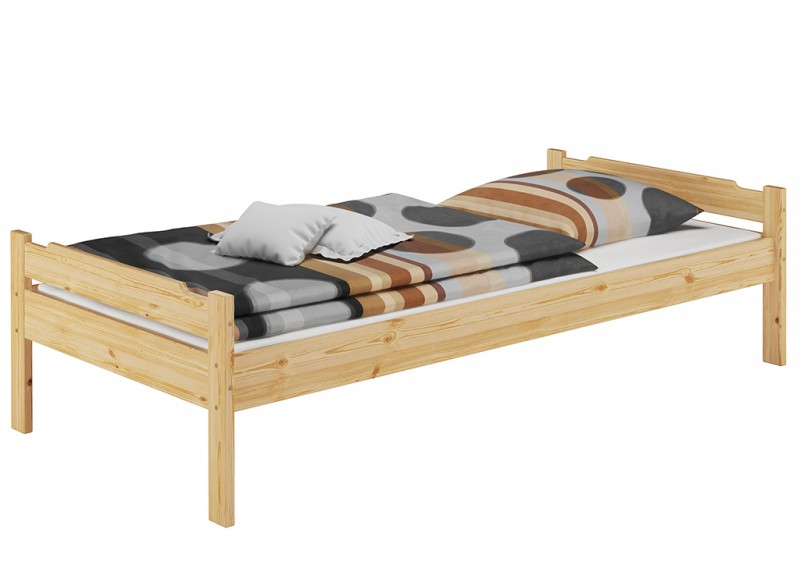 einzelbett holzbett massivholz bett kiefer 90x200 cm mit rollrost ebay. Black Bedroom Furniture Sets. Home Design Ideas