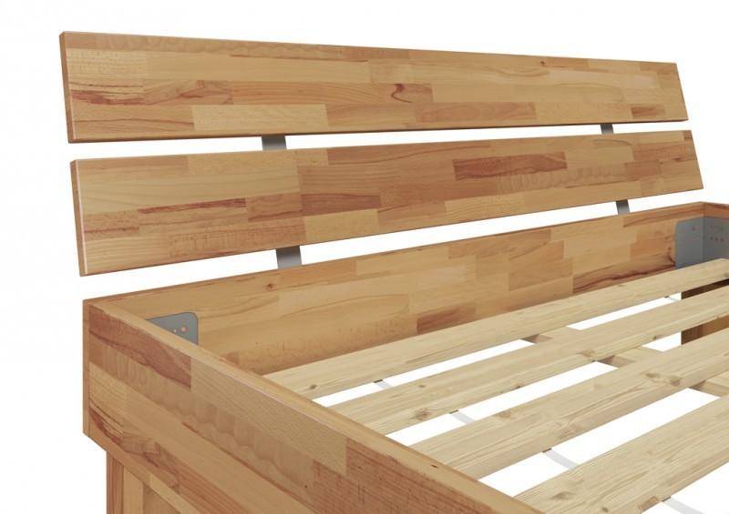 bett buche massiv 120x200 cm mit rollrost ebay. Black Bedroom Furniture Sets. Home Design Ideas