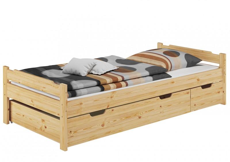 Cama pino 90x200 somier enrollable colch n ropa de cama for Cama 90 x 200